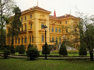 The Presidential Palace of Vietnam, in Hanoi, was built between 1900 and 1906 to house the French Governor-General of Indochina.