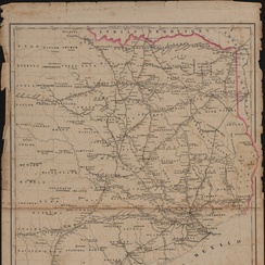 Railroad map of Texas, east of the 100th meridian (circa 1884)