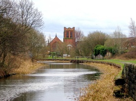 Ruchill Church, seen from the Forth and Clyde Canal