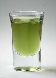 Bottle of Green Chartreuse