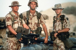 US Army soldiers from the 11th Air Defense Artillery Brigade during the Gulf War