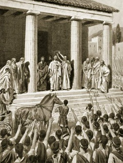 Themistocles honoured at Sparta.