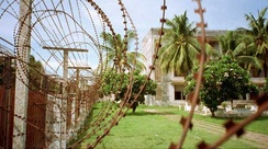 Short barb razor wire at Tuol Sleng