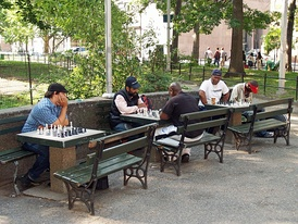 Chess players in Washington Square Park
