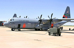 115th Airlift Squadron Modular Airborne Fire Fighting System (MAFFS) C-130J Hercules aerial firefighter