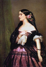 Opera singer Adelina Patti painted by Franz Xaver Winterhalter in 1863