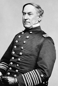 David Farragut, first full admiral in the US Navy