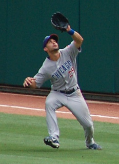 Pagán playing for the Chicago Cubs in 2007