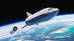 Artist's concept of the Starship's former design following stage separation, 2018