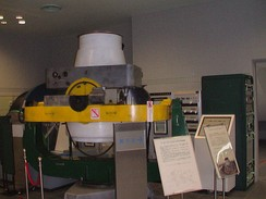 One of the Baker–Nunn cameras used by the Smithsonian satellite-tracking program