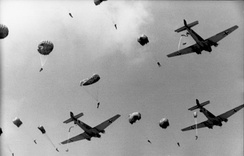 Luftwaffe Ju 52s dropping paratroops