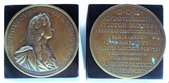 Louis XIV commemorative medal of the first stone of the Mission, 1683.