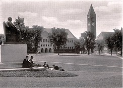 The Arts Quad of Cornell University in 1919. The organization was founded in Ithaca, N.Y., by students of Cornell University.