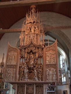 Алтарь работы Тильмана Рименшнейдера в церкви в Креглингене