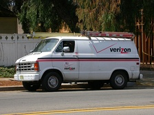 Verizon service van