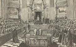 The First Vatican Council presided over by Pius IX