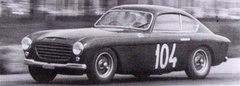 1951 Ferrari 195 Inter coupé by Vignale. Chassis #0083S. Here at the Coppa Intereuropa at Monza.