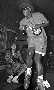 Flavor Flav of Public Enemy performing in 1991.