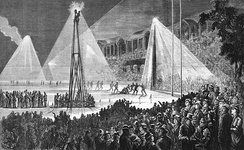 1879 Australian rules football match played under electric lights