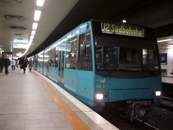 U-Bahn train at Hauptwache