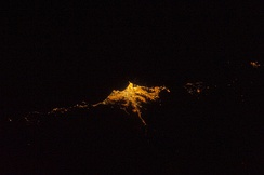Lima at night from space