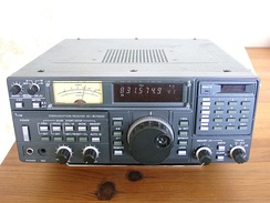 A modern communications receiver, used in two-way radio communication stations to talk with remote locations by shortwave radio.