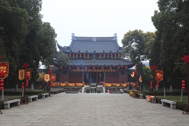 "Temple of Confucius of Jiangyin, Wuxi, Jiangsu. This is a wénmiào (文庙), that is to say a temple where Confucius is worshipped as Wéndì, ""God of Culture"" (文帝)."