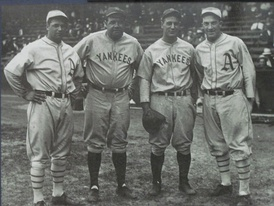 Foxx with Babe Ruth, Lou Gehrig and Al Simmons