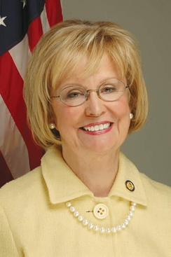 Judy Biggert, who was re-elected as the U.S. Representative for the 13th district
