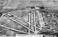 Liberal Army Airfield in Kansas during World War II, where McGovern learned to fly the B-24