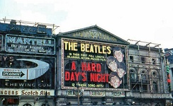 London Pavilion Theatre showing A Hard Day's Night in 1964