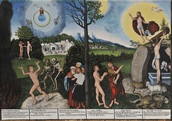 Law and Grace painting by Lucas Cranach