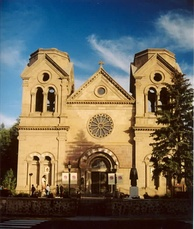 Cathedral Basilica of Saint Francis of Assisi, built in 1869, pictured in 2004.