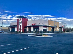This restaurant in Harrisburg, Illinois, is the largest KFC in the United States.