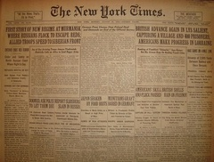 Выпуск газеты The New York Times от 19 августа 1918 года