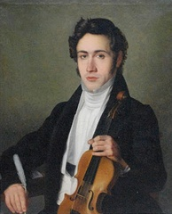 Portrait of young Paganini