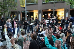Occupy Sydney protests in Martin Place, October 2011