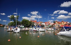 Mikołajki with its well-known marina