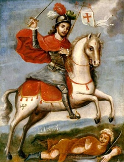 St James the Great, depicted as Santiago Matamoros (Santiago the Moor-slayer)