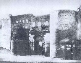 Porta Salaria just before its demolition in 1871.