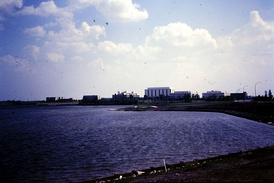 Regina Campus from Wascana Lake before it became University of Regina in June 1974