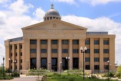 The Rockwall County Courthouse in Rockwall
