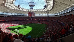 The BC Place in Vancouver hosting a 2015 Women's World Cup match
