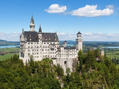 Neuschwanstein Castle (pictured) and Hohenschwangau Castle draw many tourists to the region annually.