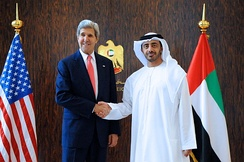Minister of Foreign Affairs Abdullah bin Zayed Al Nahyan with U.S. Secretary of State John Kerry, 2013