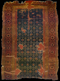 A 13th century Turkish carpet from the Anatolian Seljuk Sultanate period, originally at the Alâeddin Mosque in Konya.[419]