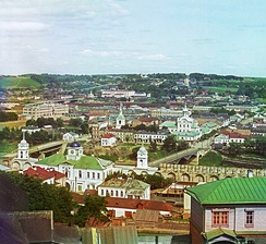 View of Smolensk in 1912. Early colour photograph by Sergei Prokudin-Gorskii