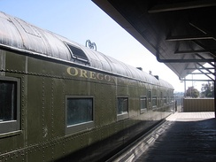OWR&N car #84 being restored to its 1922 appearance in 2012 at the South Bay Historical Railroad Society in California.