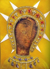 Our Lady of Philermos the patroness of Montenegro, Rhodes and Sovereign Military Order of Malta, one of the first Christian icons, according to legend painted by St. Luke, National Museum of Montenegro, Cetinje.
