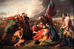 The Death of General Wolfe (1771), on the Plains of Abraham, near Quebec